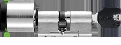 Elektronisk och mekanisk cylinder i kombination