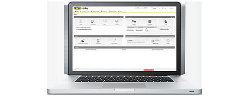 Onlineverwaltung auf Laptop