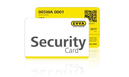 evva security card